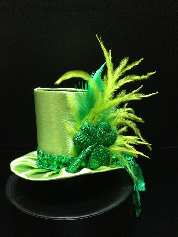 Cute Green Satin St. Patrick's Day Mini Top Hat for party, Tea Party or Photo Prop. $29.95, via Etsy.