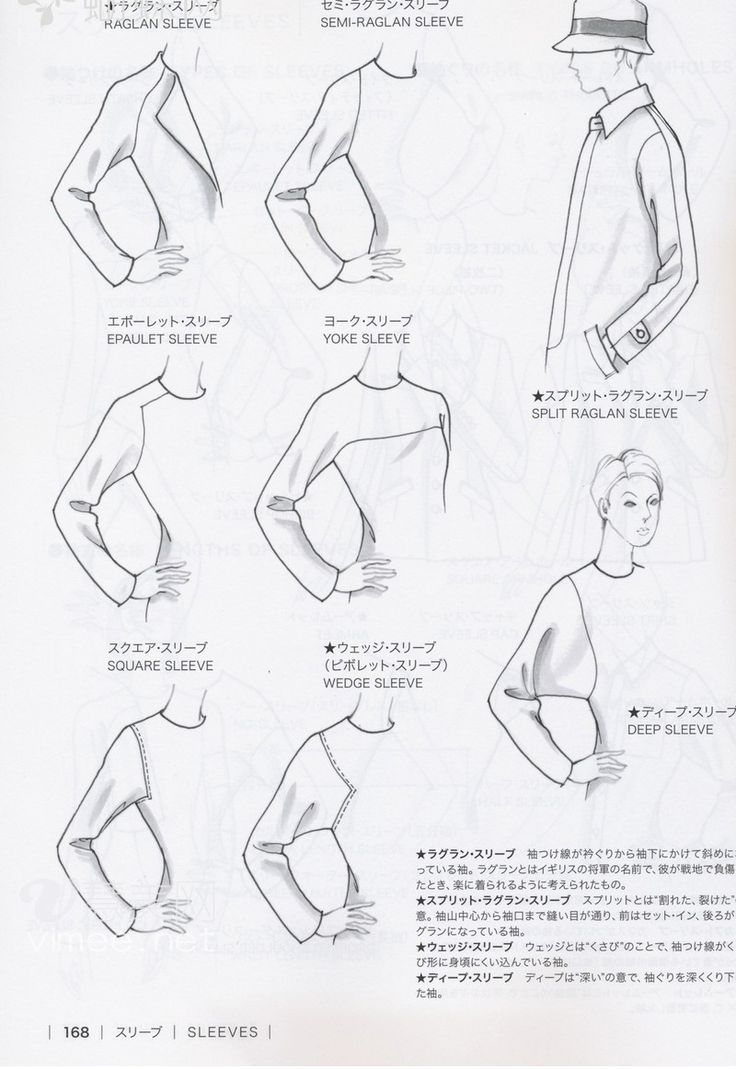 Guide To Fashion Design By Bunka Fashion College Japan Sleeves Bunka Fashion College Sewing Sleeves Pattern Fashion