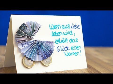 Geschenke an die GEBURT, Geldgeschenkidee an BAPTISM, Babyschuhe falten – YouTube