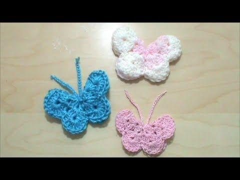 Πλεκτή 3D πεταλούδα - YouTube