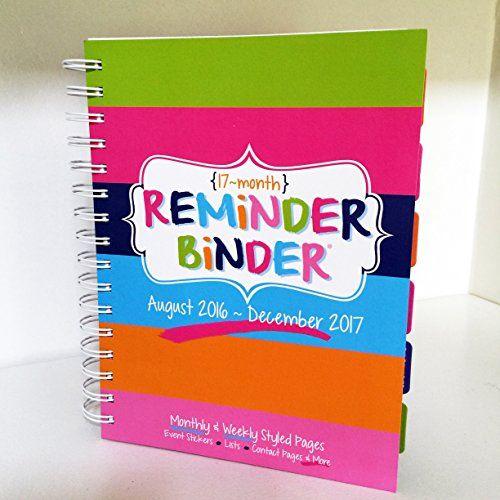 2016-2017 17-Month Reminder Binder® Planner Calendar Week