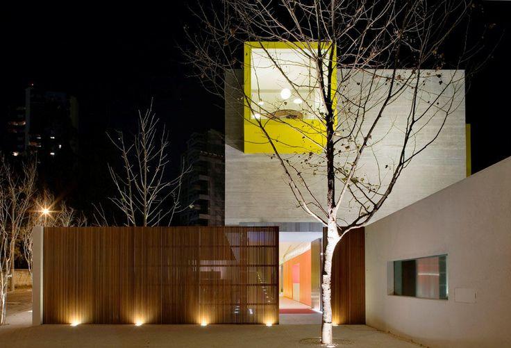 : Nurseries, Schools, Facade, Marcio Kogan, Architecture