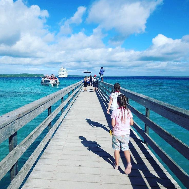 Heading back to the ship Lifou Island wharf - from here you can watch giant sea turtles play - or jump in and join them like we did! Cruise New Caledonia to find Island delights such as these. #newcaledonia #lifou #cruisereviews