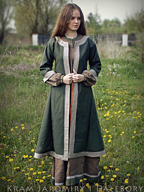 NEU IM! Frühe mittelalterliche Mantel für die Frau, Slav, Rus, Nachstellung