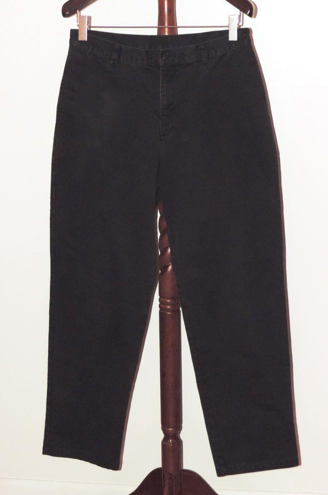 LL Bean 35 x 34 Flannel Lined Dark Blue Khaki Pants #LLBean #KhakisChinos