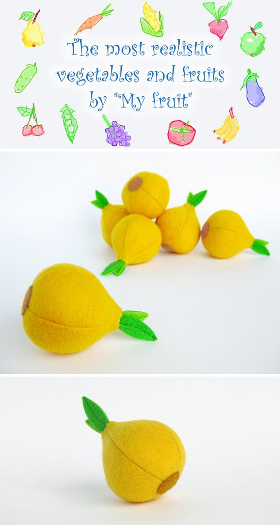 Eco toys Onion Felt vegetables and fruits Organic toys for