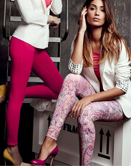 Women | leggings | LEGGINGS JEANS COLOUR AND BOHEMIEN FOOTLESS TIGHTS | Goldenpoint