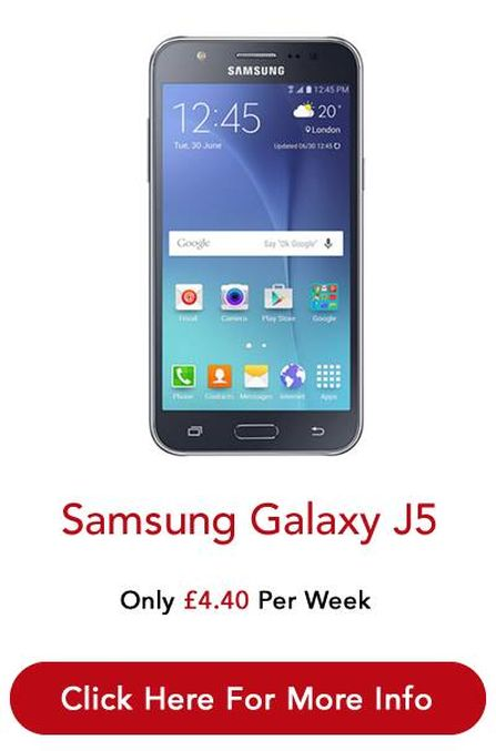 Pay 4.40 Pound and take #SamsungGalaxy J5 to your home. Bad Credit Also Get this phone.
