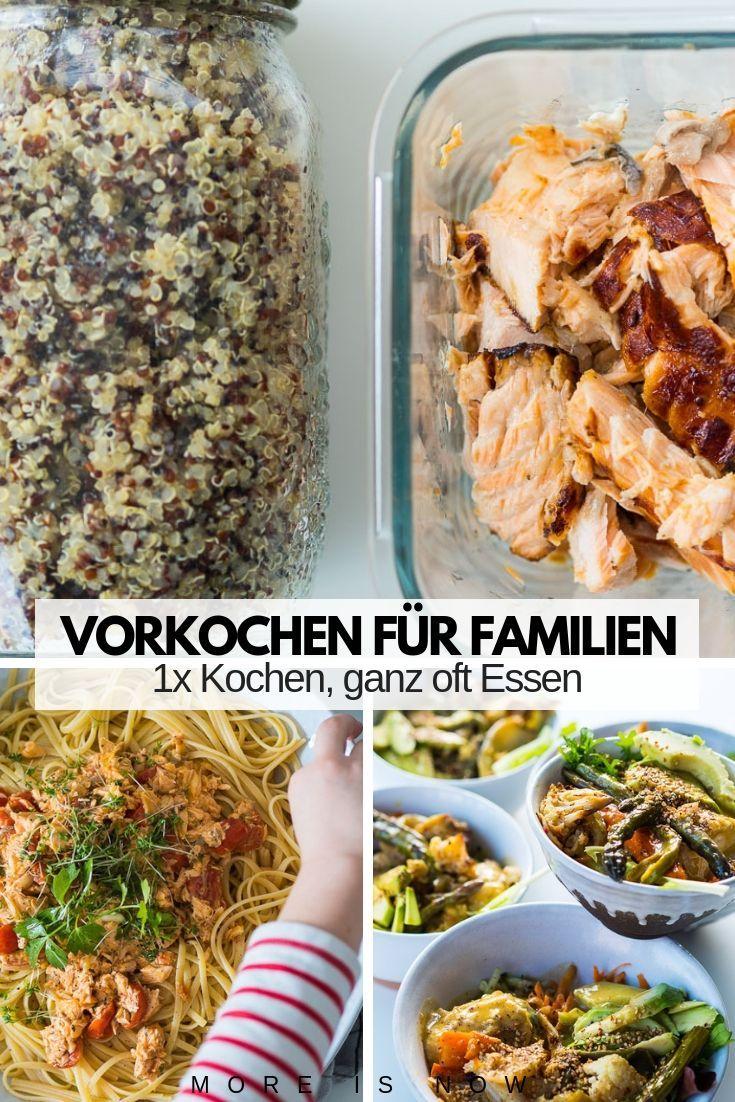 Familien Meal Prep par excellence – Mit wenig Aufwand KOCHEN, ganz oft ESSEN