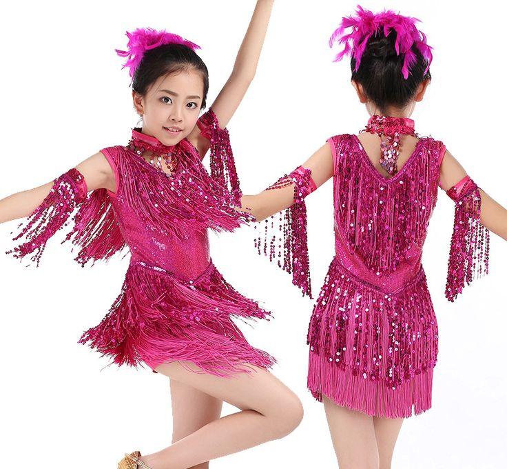 >> Click to Buy << 2017 Fashion girls latin dance Dress Salsa Dance Costume Girl Sexy Tango Dresses Children Charleston Fringe Dancing Dress  #Affiliate
