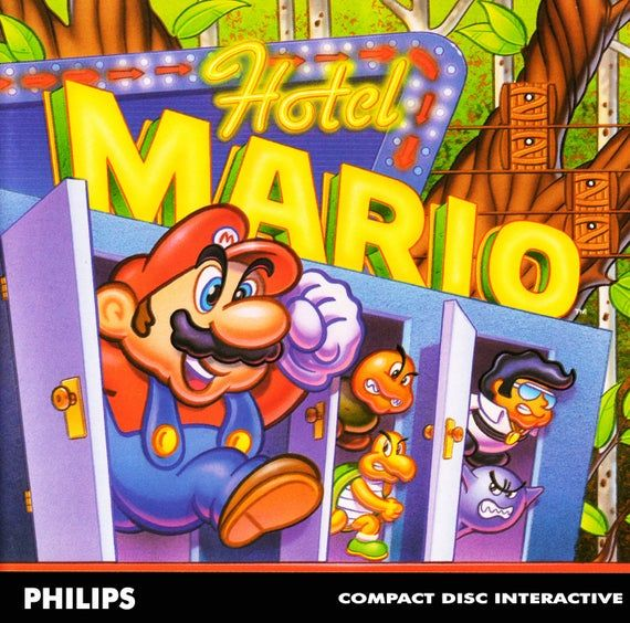 Hotel Mario Reproduction Custom Philips Cdi Game Mario Super
