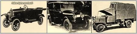 Rába cars in WW 1