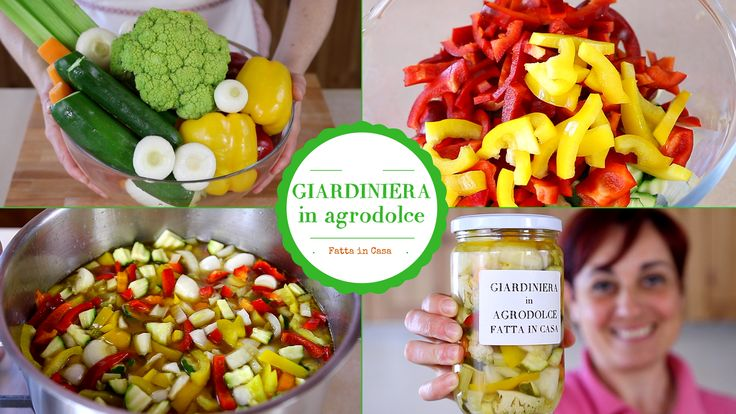 Giardiniera in agrodolce fatta in casa con verdure fresche. Ricetta per fare una giardiniera di verdure , genuina e coloratissima con ingredienti scelti.