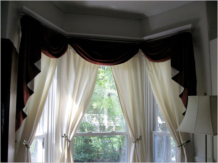 bay window hard valance soft valance and drapes find this pin and more on bay window curtain rods