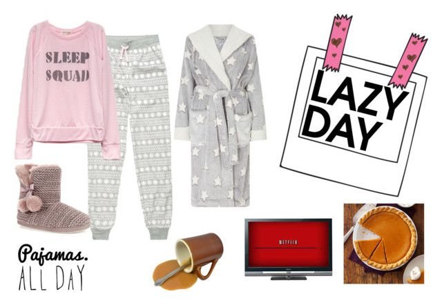 """Lazy Day"" by emily-dickson-1 ❤ liked on Polyvore featuring Cosmic Love, John Lewis, Sony, coffee, netflix and PumpkinPie"
