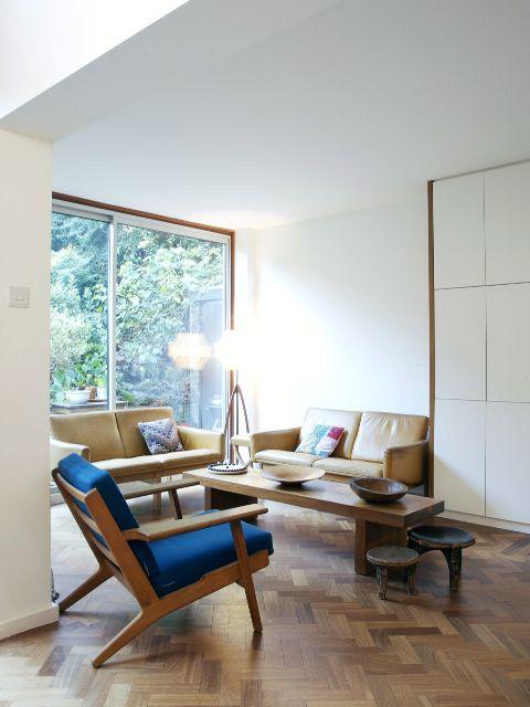 Parquet marcos de madera en ventanas de aluminio calidezz