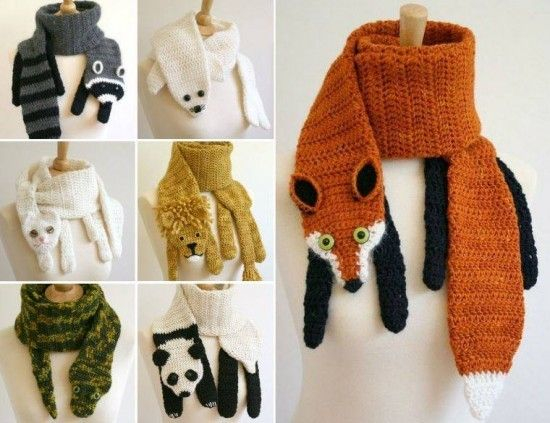 Crochet Animal Scarves  *** FREE PATTERN as at 16th September 2015