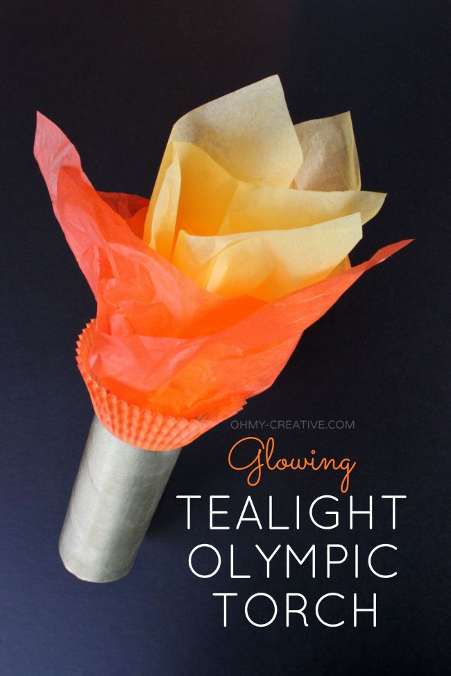 Glowing TeaLight Olympic Torch Craft  |  OHMY-CREATIVE.COM