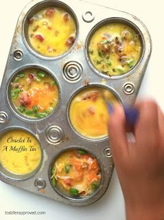 muffin tin omelets.. easy yes, quick yes, make ahead yes..