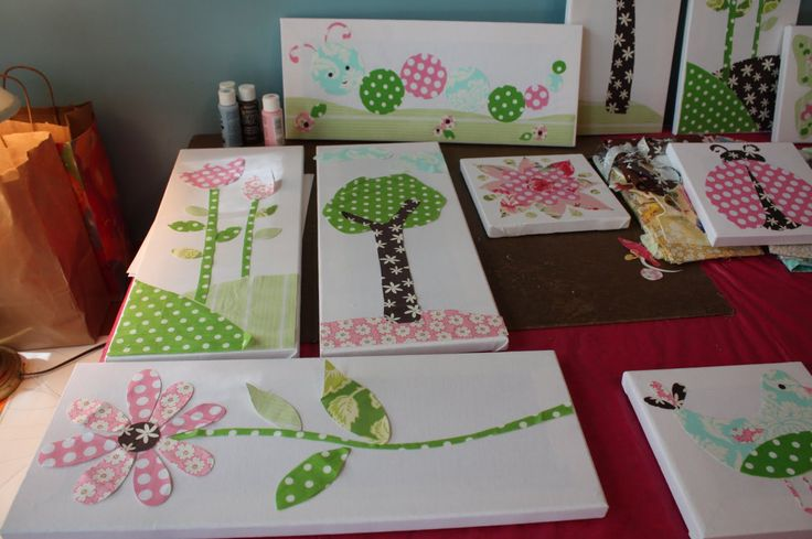 use scrapbook paper to make pretty wall art for a kids room crafts and fun ideas pinterest. Black Bedroom Furniture Sets. Home Design Ideas