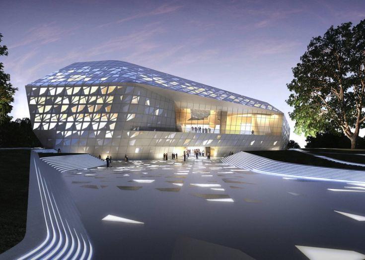 Космическая архитектура Захи Хадид Фестивальный комплекс имени Бетховена в Бонне 2020, Германия
