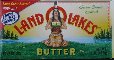 After watching Sally Draper in Mad Men speak, I was prompted to investigate the girl holding the Land O Lakes butter who was holding a packet of Land O Lakes Butter...