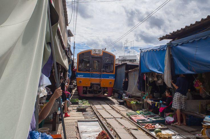 How to get from Bangkok to Maeklong Railway Market and Amphawa floating market for $7!