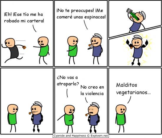 Memes gratis: Nunca confíes en un héroe vegetariano →  #memesdivertidos #memesenespañol #memesparafacebook #Memestumblr #Memeswhatsapp