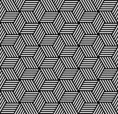 Seamless geometric pattern in op art design. Vector art. stock photography