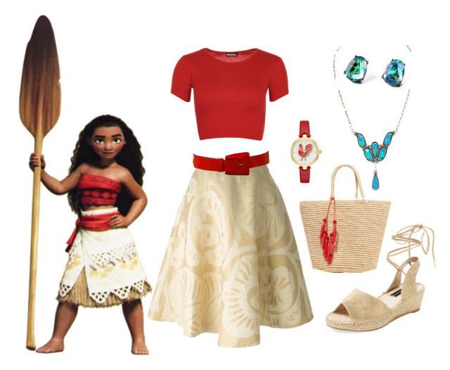 """""""Moana dapper day"""" by misstiffiniemae on Polyvore featuring Disney, Société Anonyme, WearAll, Più & Più, Steven by Steve Madden, Kate Spade and Sensi Studio"""