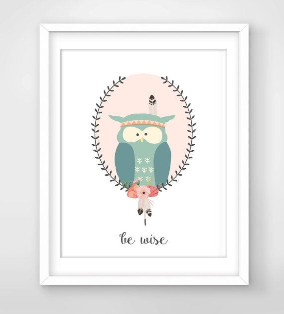 30% OFF SALE Be Wise Nursery Wall Quote by FreezleDigitalArt