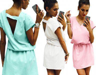 Sukienka Oversize Dekolt Plecy Sciagacz Hit M3455 6326003522 Oficjalne Archiwum Allegro