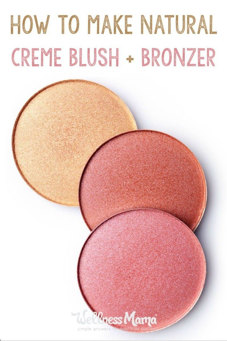 Make your own natural creme blush or bronzer with this simple recipe using lotion made from shea butter and aloe plus minerals and natural colors.