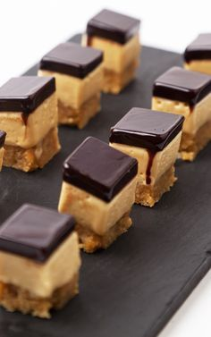 This decadent dessert from Adam Gray is a elegant take on the tea-time favourite Millionaires shortbread. With a crumbly biscuit base, rich toffee mousse and chocolate jelly topping, this has all the classic elements but with a delicious twist.