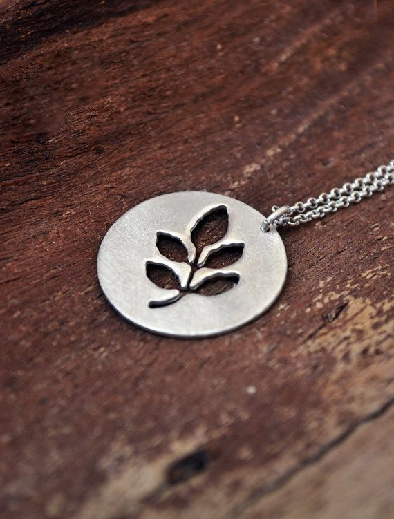 Greece Necklace / Summer In Greece Collection / Leaf by Bubblebox