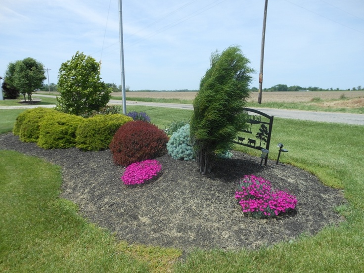Landscaping Ideas For Flat Front Yard : Best ideas about berm on gardens
