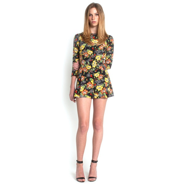 Dorothy Playsuit - Dark Floral