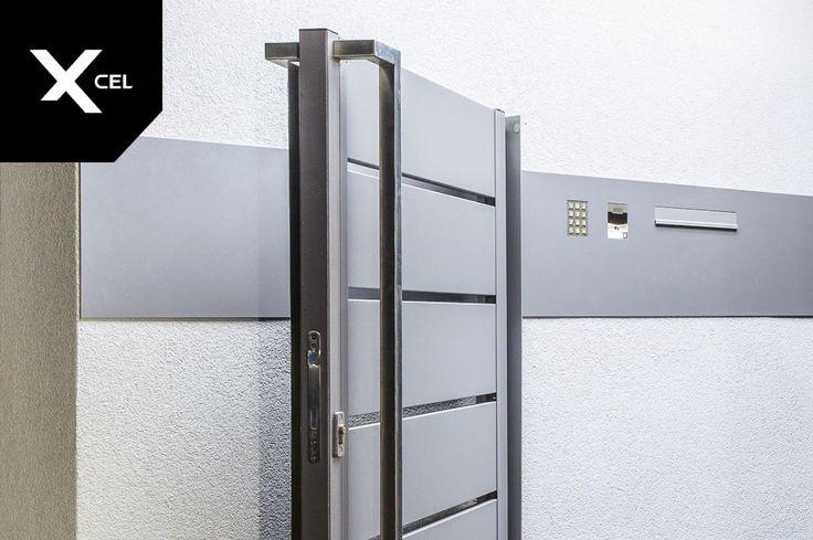 Modern post box with number pad from Xcel.  Nowoczesna skrzynka na listy Xcel z klawiaturą numeryczną.