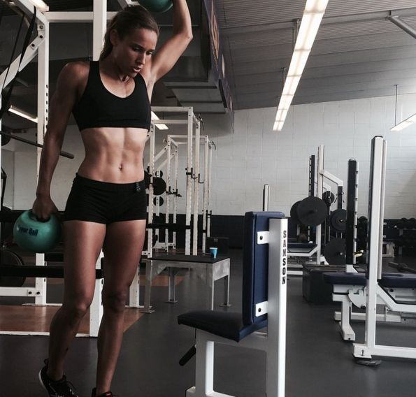 Olympian Lolo Jones Shares Her Secret Weapon Workout - Shape.com shhh.... TRX is in there....