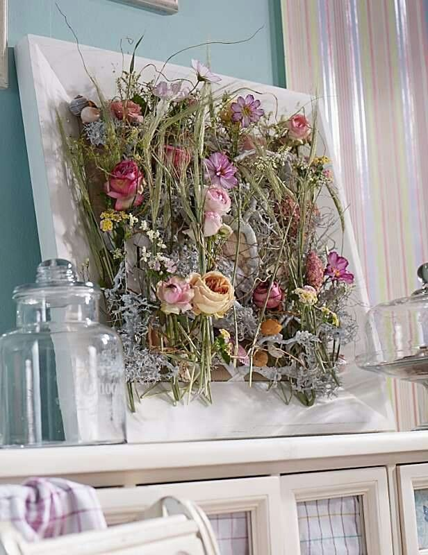 framed dried flowers