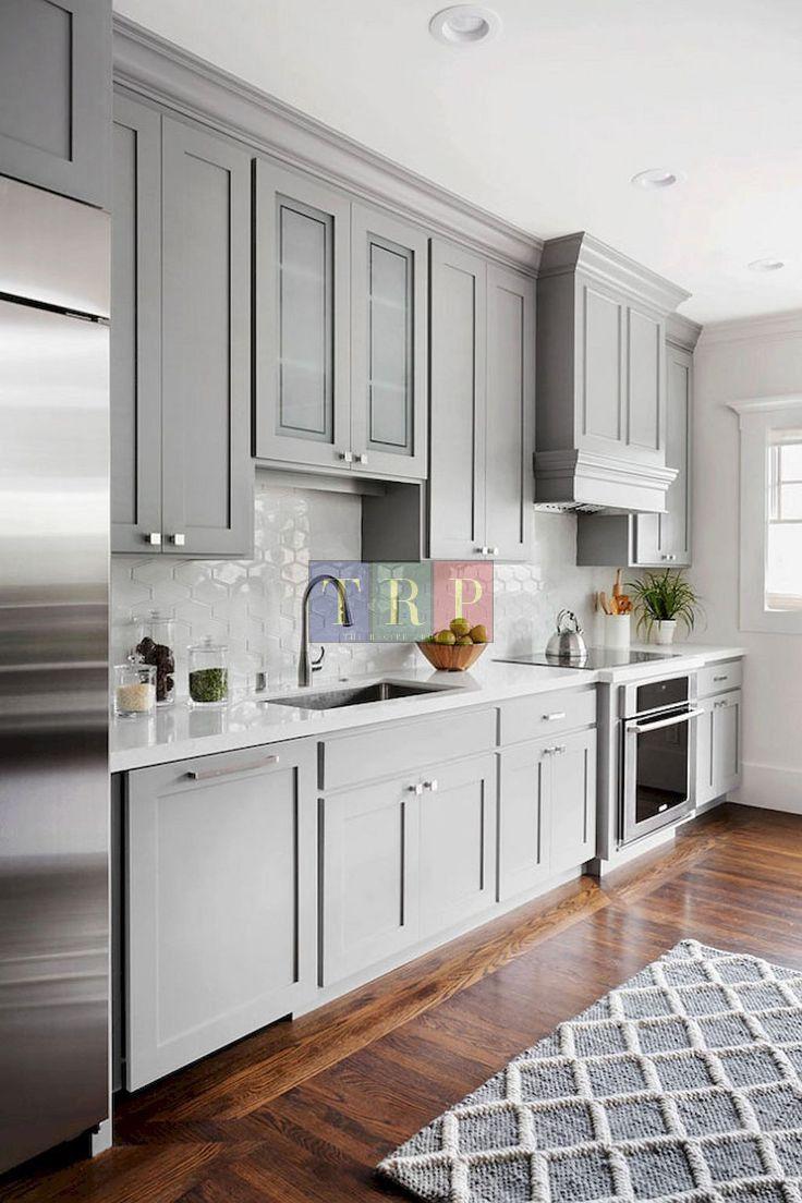 25 Grey Kitchen Ideas Modern Accent Grey Kitchen Design Shaker Style Kitchen Cabinets Kitchen Cabinet Styles Kitchen Design