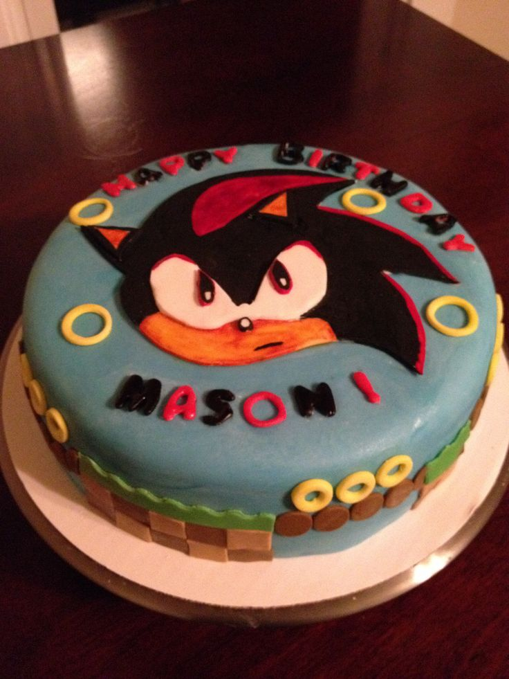 Shadow From Sonic The Hedgehog Cake Cakes Pinterest