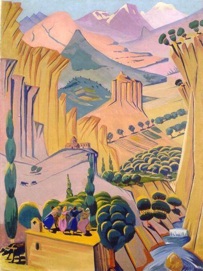 """Armenian Landscape"" Martiros Saryan"