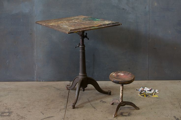 Victorian Cast Iron Artists Drafting Table : Factory 20