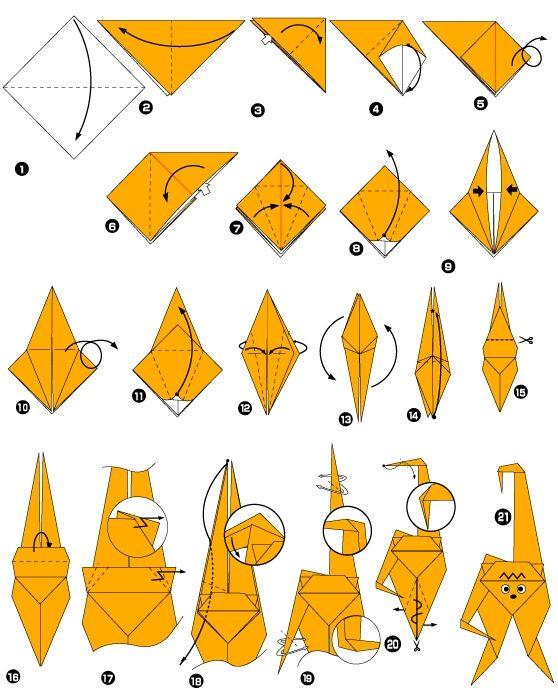 Origami de singe