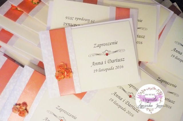 pasjonata.zaproszenia: # 5 Z różyczką... zamówienie pani Anny i pana Dari...