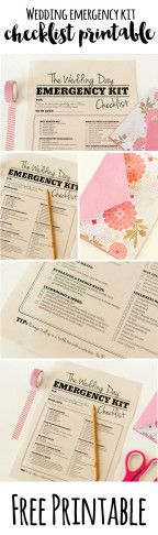 Wedding Day Survival Kit for bridesmaids and groomsmen
