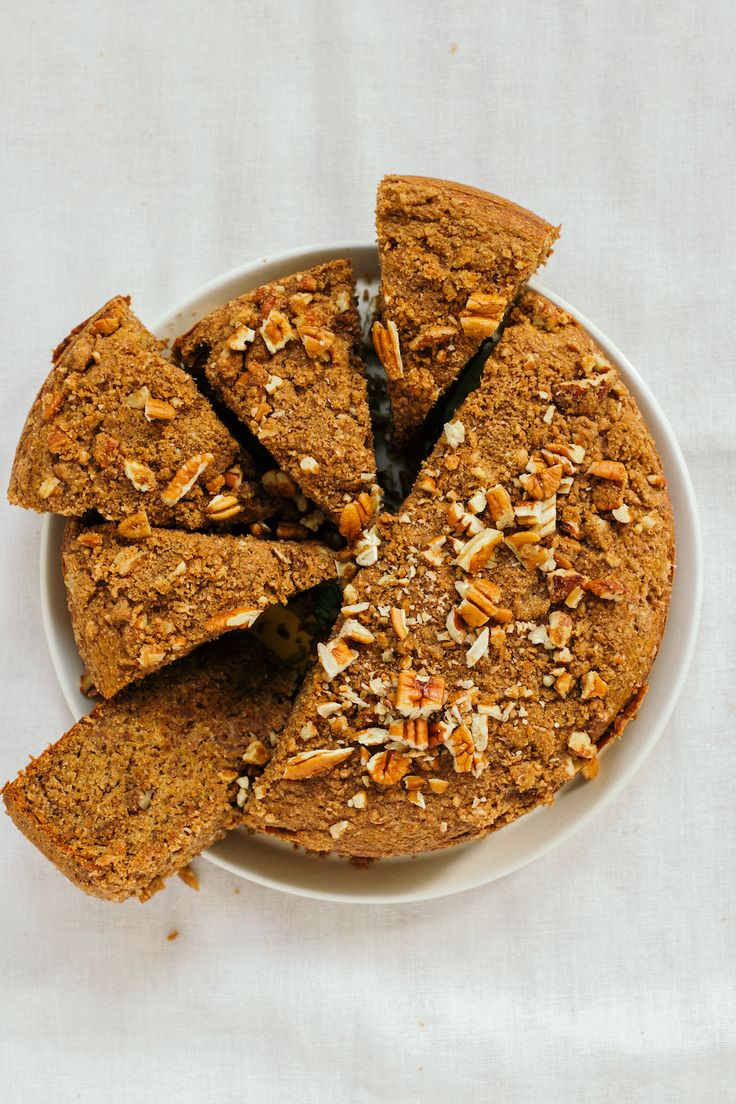 Vegan Banana Coffee Cake Recipe with Streusel