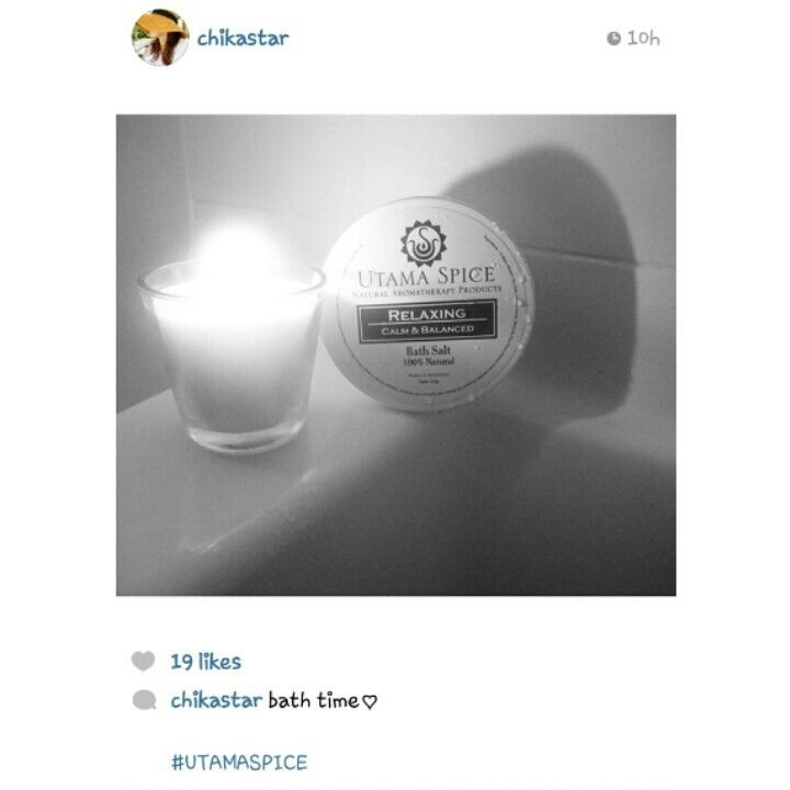Thank you Chikastar for posting this photo of Utama Spice Relaxing bath salt ♥