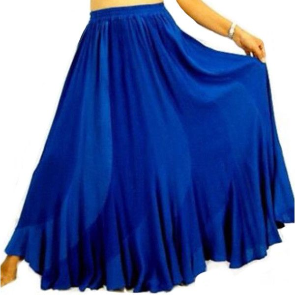 17%Off u9810 Beautiful Sexy Bias Ruffled Maxi Skirt Elastic Waist... ($38) ❤ liked on Polyvore featuring skirts, blue, women's clothing, plus size maxi skirt, plus size long skirts, ruffle maxi skirt, long skirts and plus size skirts
